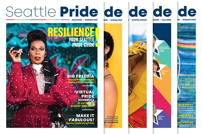 Seattle Pride Magazine covers